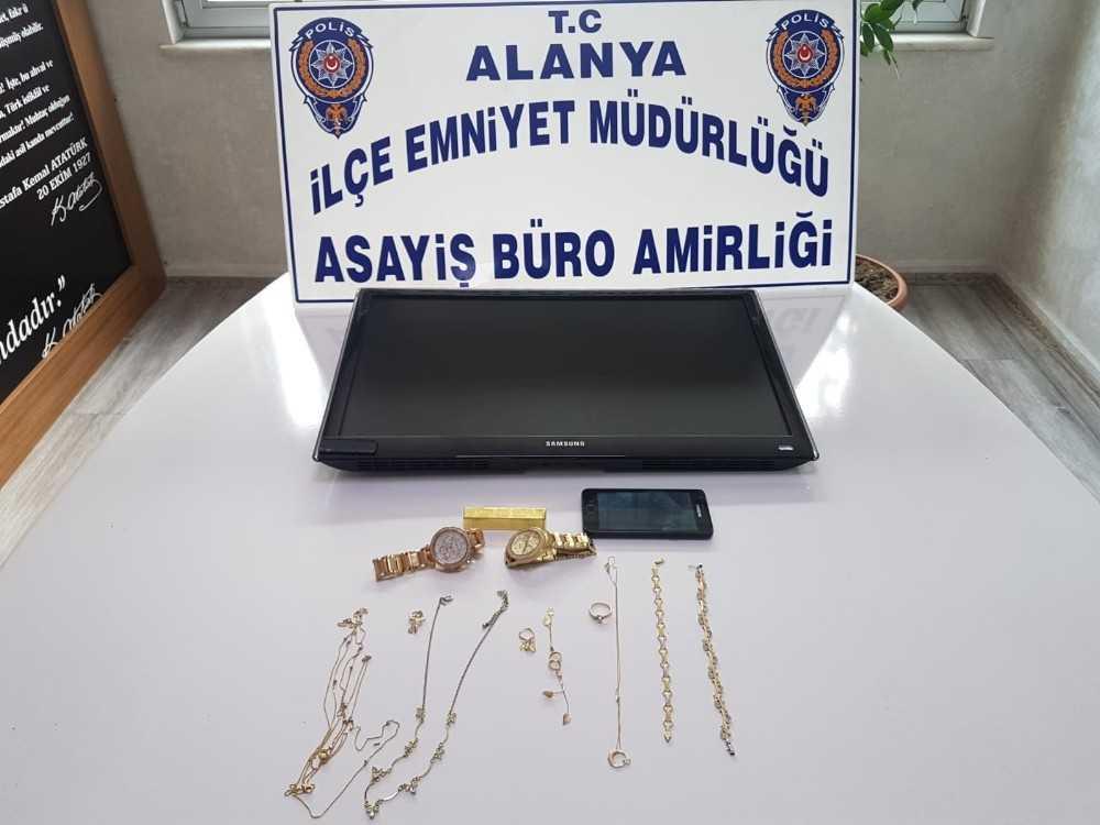 Alanya'da villalardan hırsızlık yapan şüpheli tutuklandı
