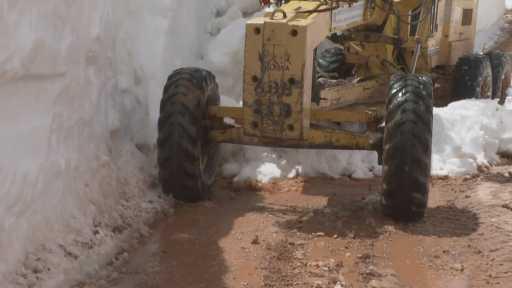 Antalya'da Nisan ayında karla mücadele çalışmaları