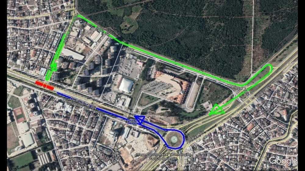 Dumlupınar Bulvarı ile Adnan Selekler Caddesi kesişim kavşağı 15 gün trafiğe kapalı olacak