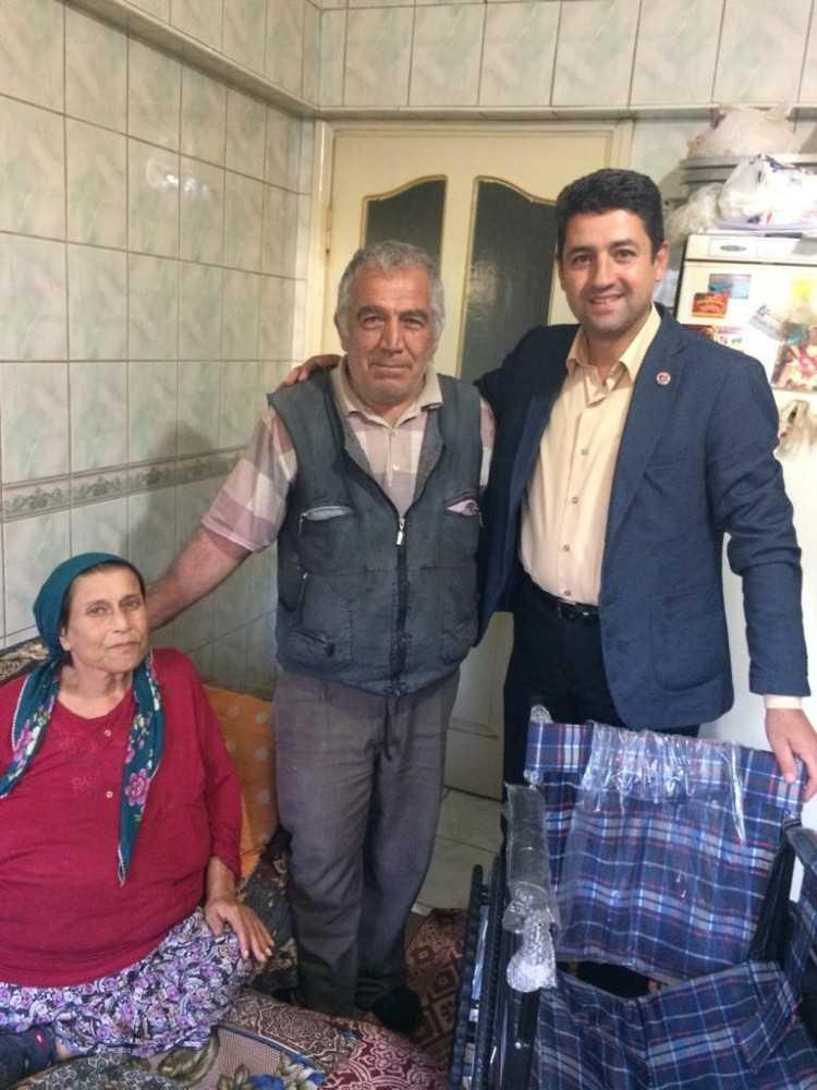 Suriyelinin tekerlekli sandalye bağışı, bir hastaya umut oldu
