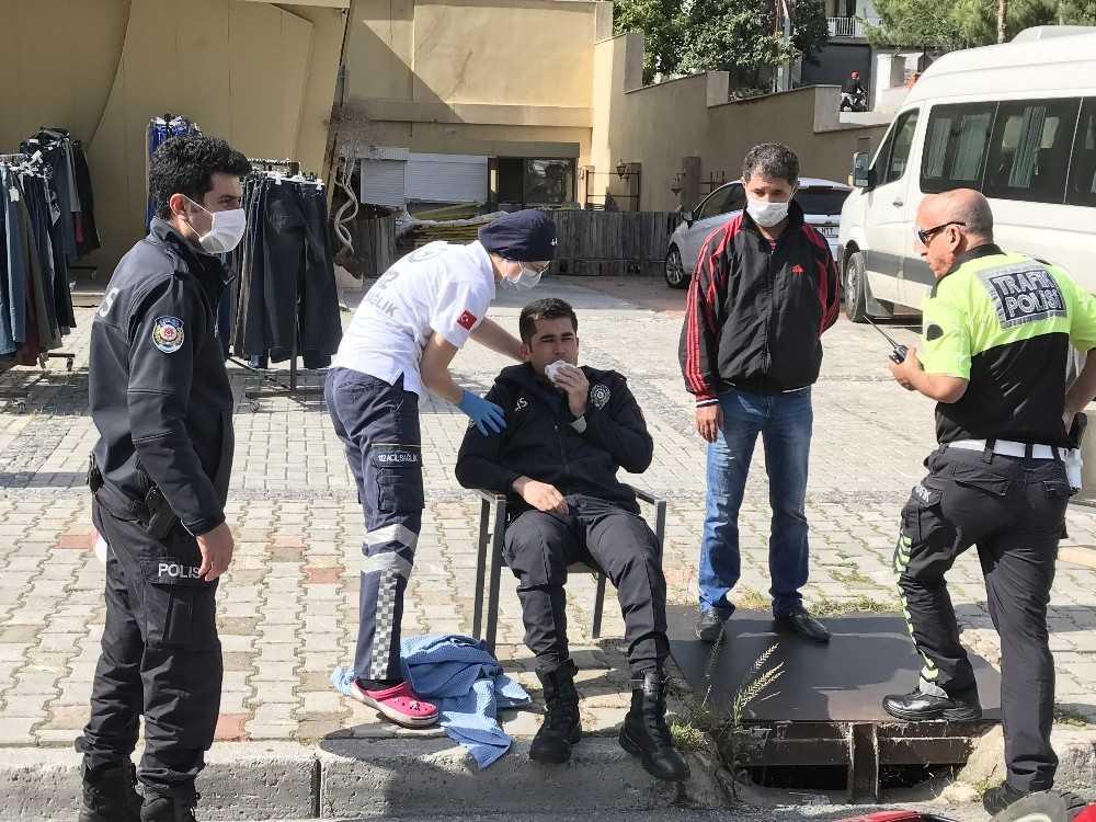 Alanya'da 2 motosiklet çarpıştı: 1'i polis 2 yaralı