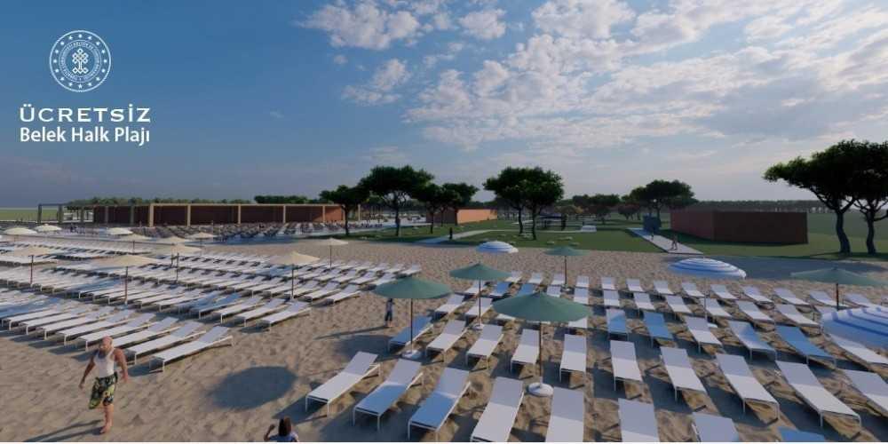 Antalya'da 5 yıldızlı iki halk plajında ücretsiz hizmet verilecek