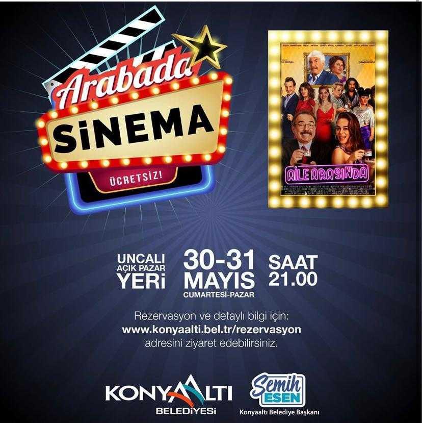 """Antalya'da """"Arabada Sinema"""" keyfi başlıyor."""