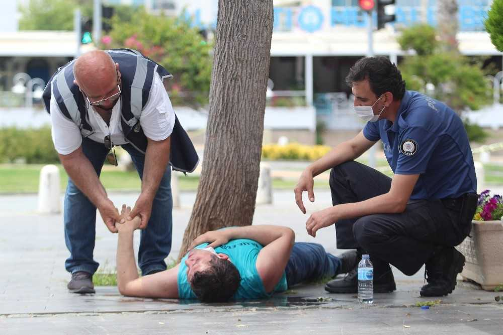 (Özel) Polis, düşüp başını kaldırma çarpan genç için seferber oldu