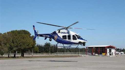 Antalya trafiği helikopter ve drone ile denetlendi.