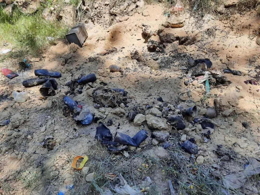 Yaktığı çöpün içindeki boş sinek ilacı ve çakmak gazı tüpleri yangına sebep oldu
