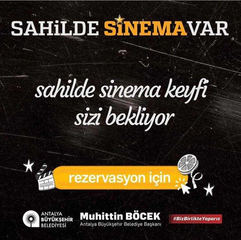 Antalya'da sahilde sinema keyfi başlıyor!