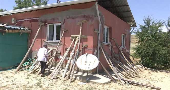 Depremde hasar alan eve farklı tedbir