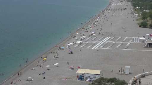 – Antalya sahillerinde pazar günü yoğunluğu