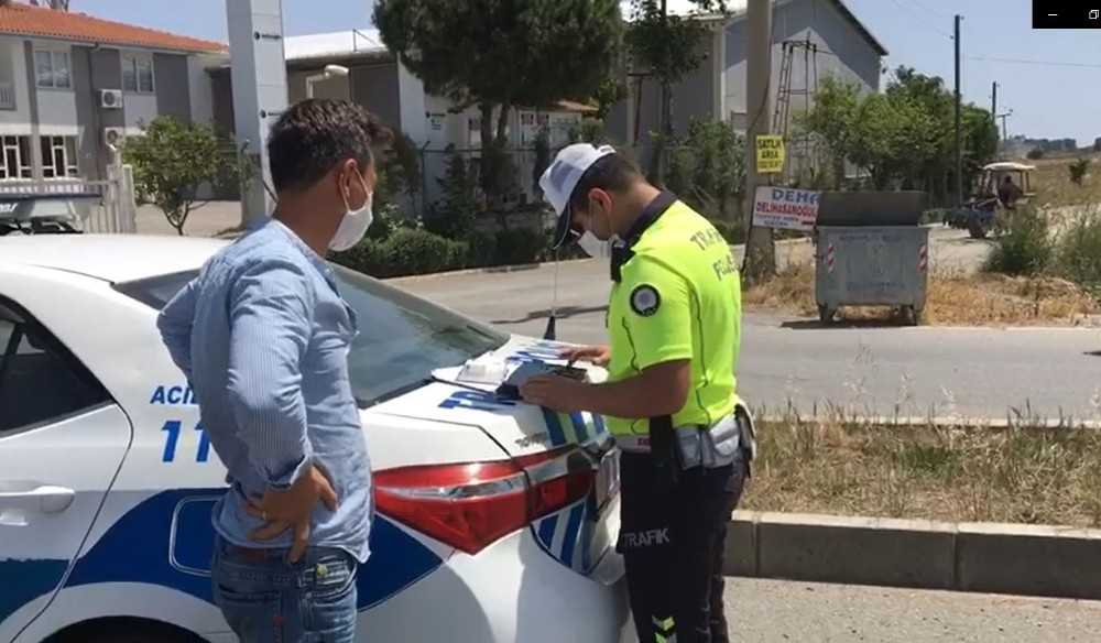Antalya'da 69 sürücüye ceza havadan geldi