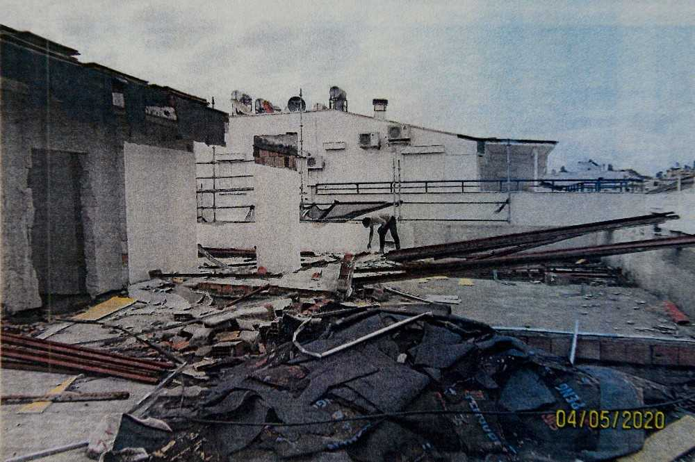 Muratpaşa'dan yıkım kararına rağmen inşaatı devam eden bina açıklaması