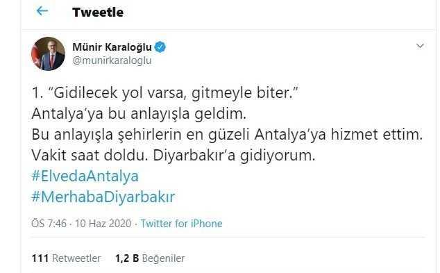 """Vali Karaloğlu'ndan duygusal paylaşım: """"Vakit saati doldu"""""""