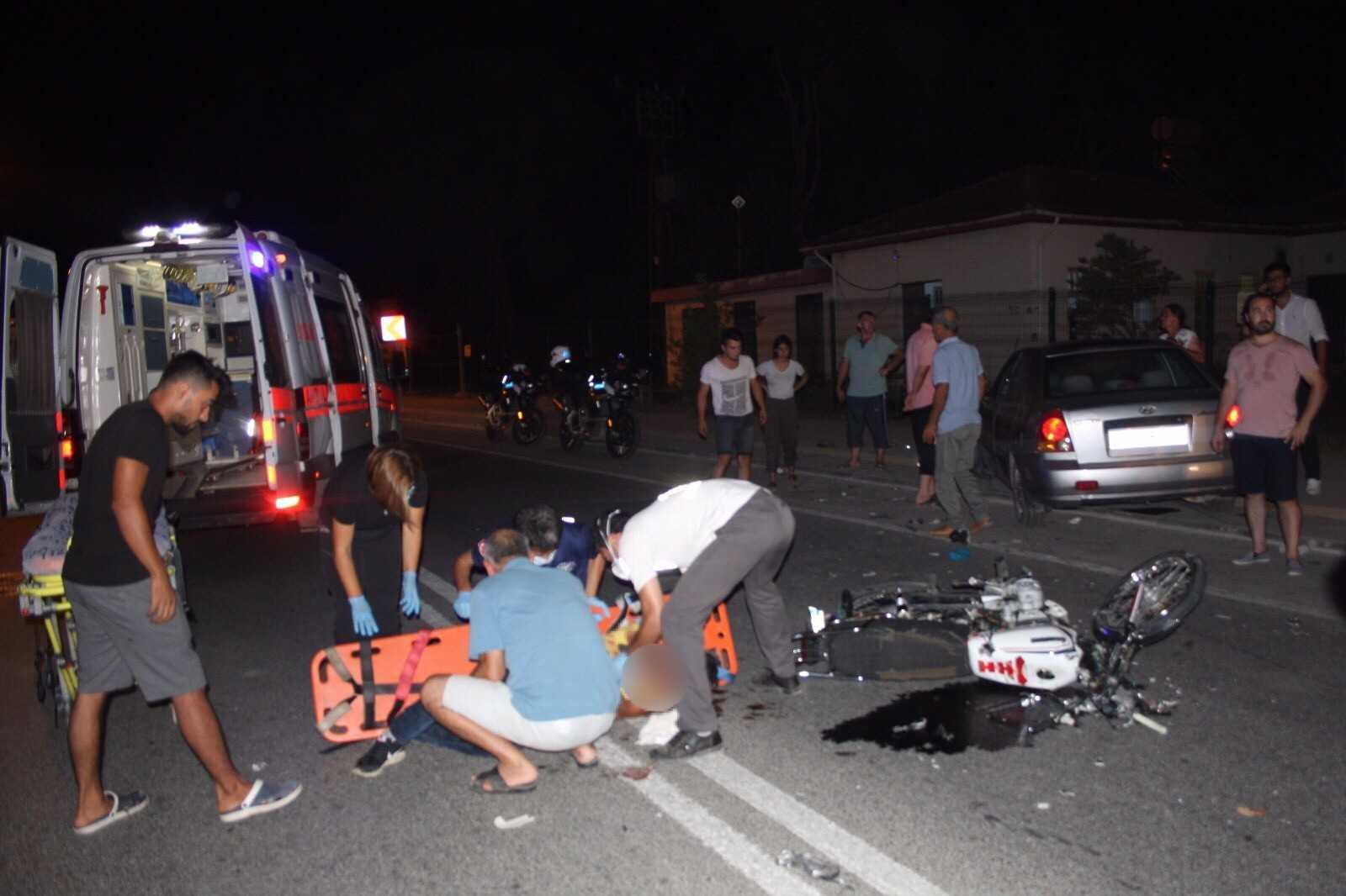 Otomobille çarpışan motosikletli hastanede hayatını kaybetti