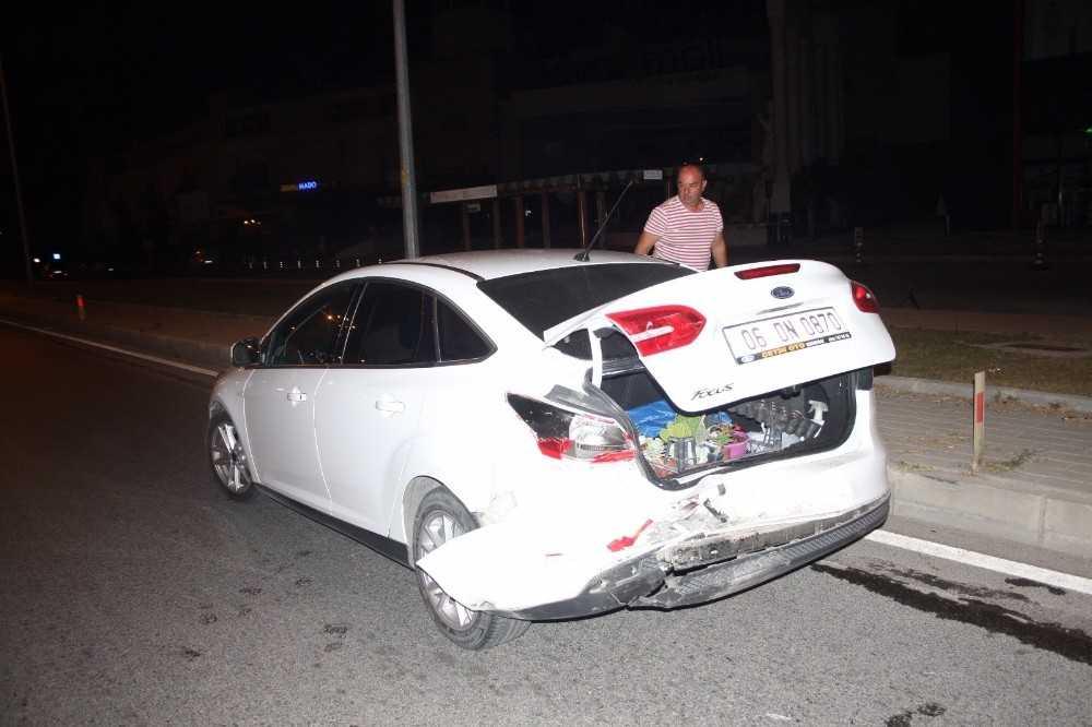 Antalya'da alkollü sürücü kazası: 1 yaralı