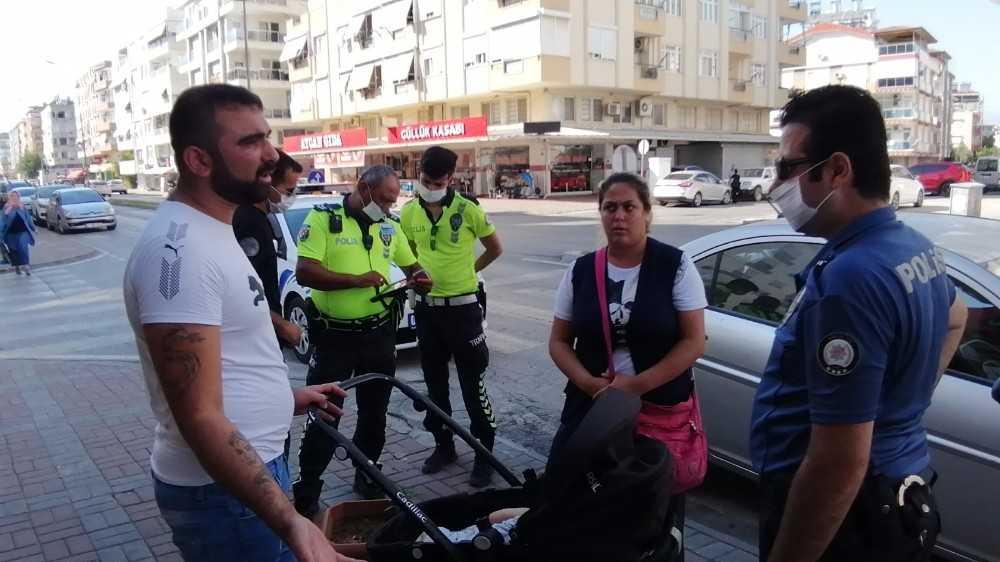 Bebekle duygu sömürüsü polise takıldı