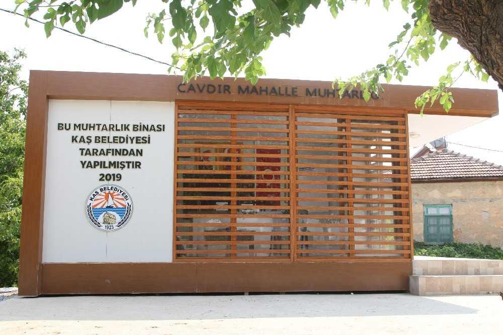 Kaş Belediyesi'nden Muhtarlık Ofisleri