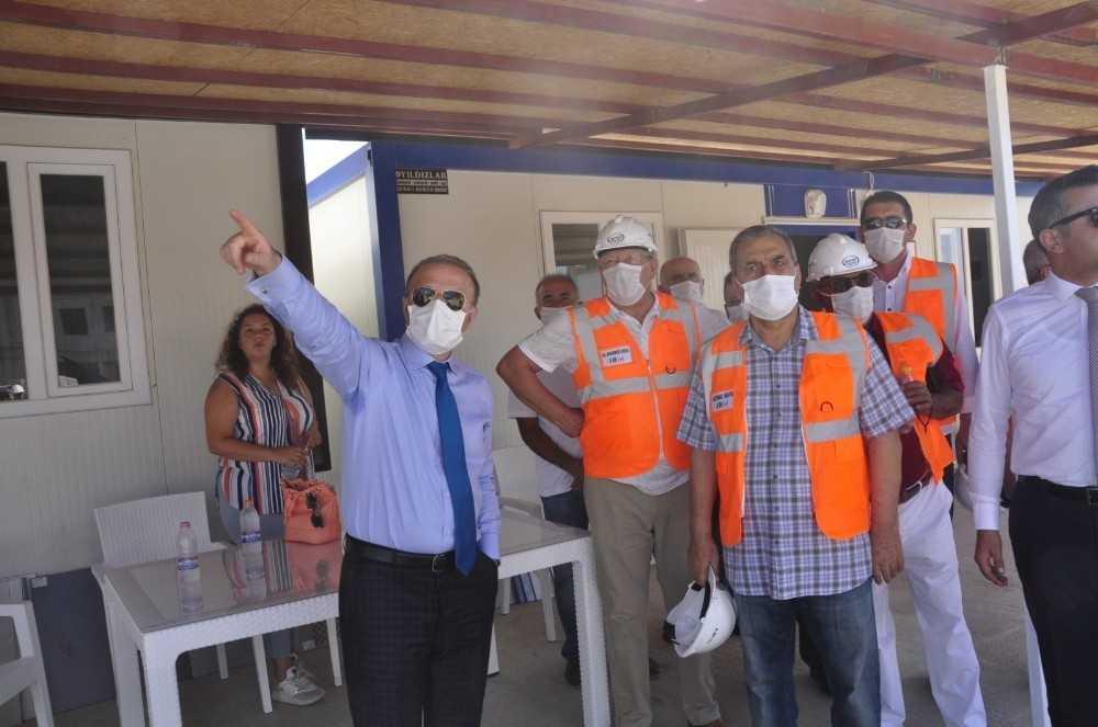 Rektör Ünal Manavgat'ta incelemelerde bulundu