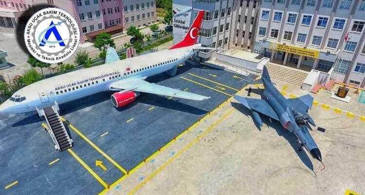 Aksu Uçak Bakım Lisesi, alanında birinci sırada yerini aldı