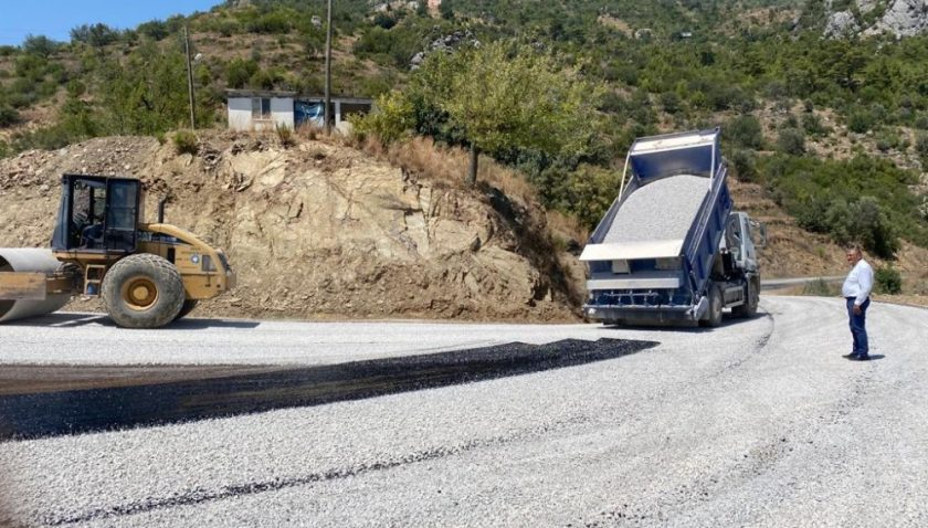 Alanya Çamlıca yolu asfaltlandı
