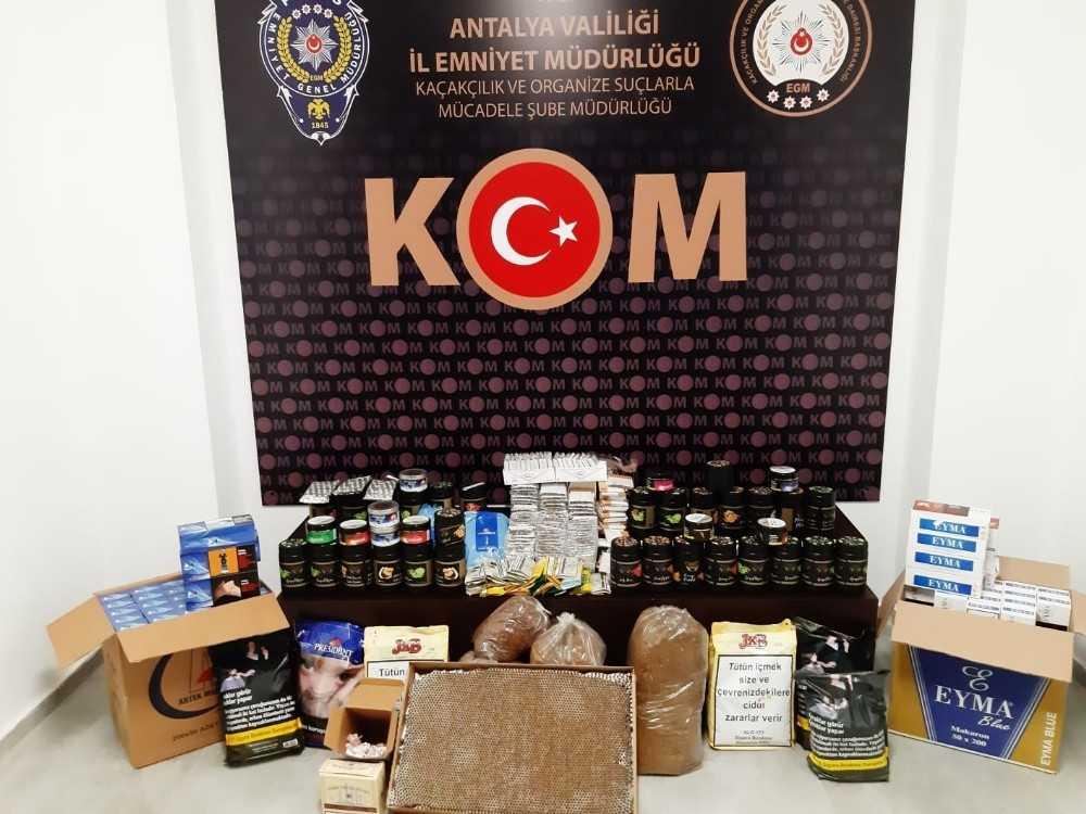 Antalya polisinden kaçakçılık operasyonu