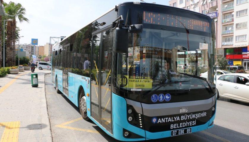 Antalya'da 30 Ağustos'ta toplu ulaşım ücretsiz