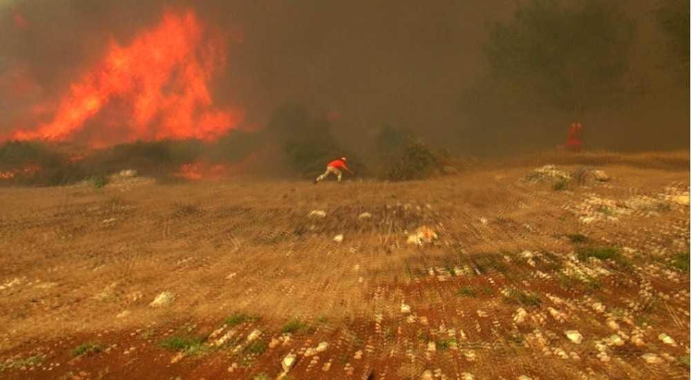 Antalya'daki orman yangınında hortum paniği