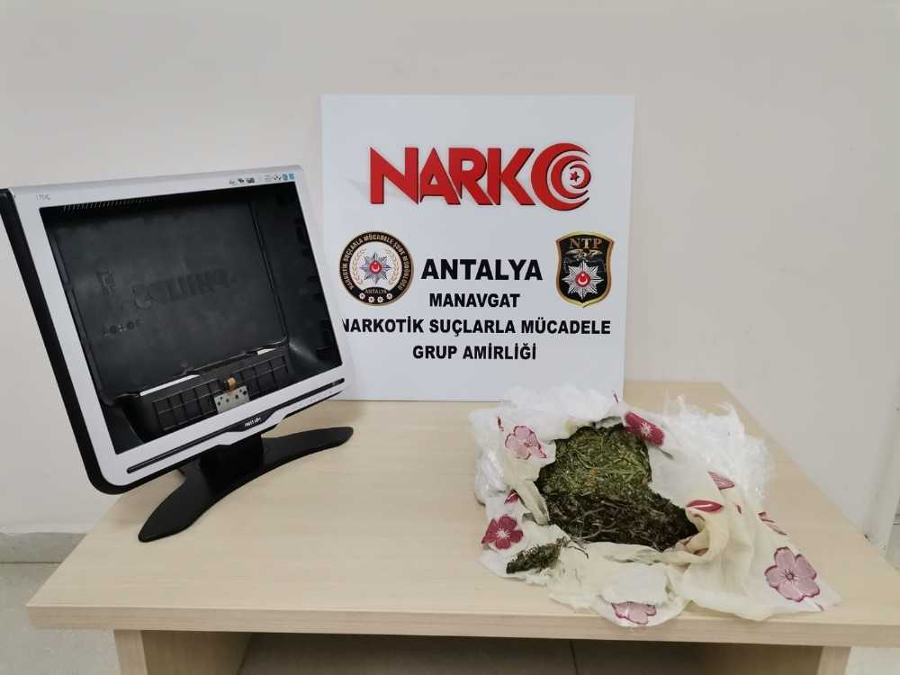 Bilgisayar monitörü içerisine sakladığı uyuşturucuyu kargo yoluyla getirdi