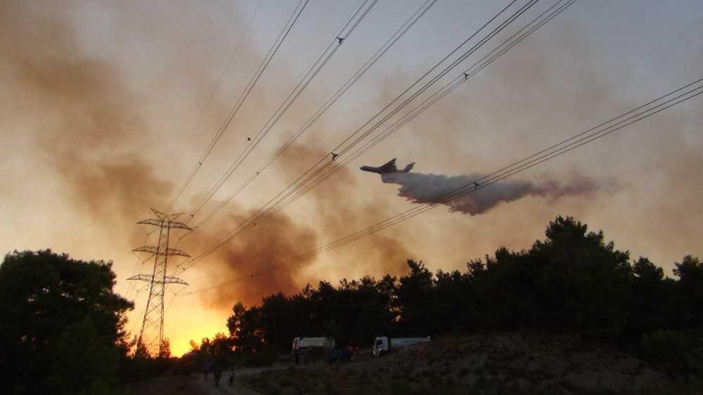 Manavgat'ta 2 saat içinde 4 ayrı noktadan alevler yükseldi