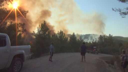 Manavgat'ta iki saat içinde 4 ayrı noktadan alevler yükseldi