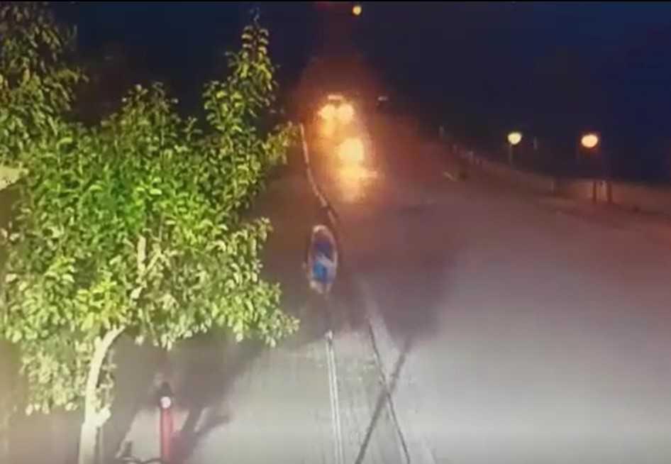 Motosikletli gencin öldüğü kazanın görüntüleri ortaya çıktı
