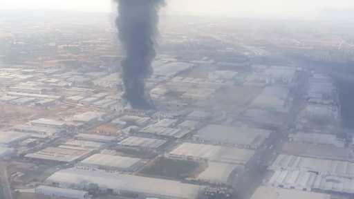 Soğuk hava deposu üretimi yapan fabrikada yangın