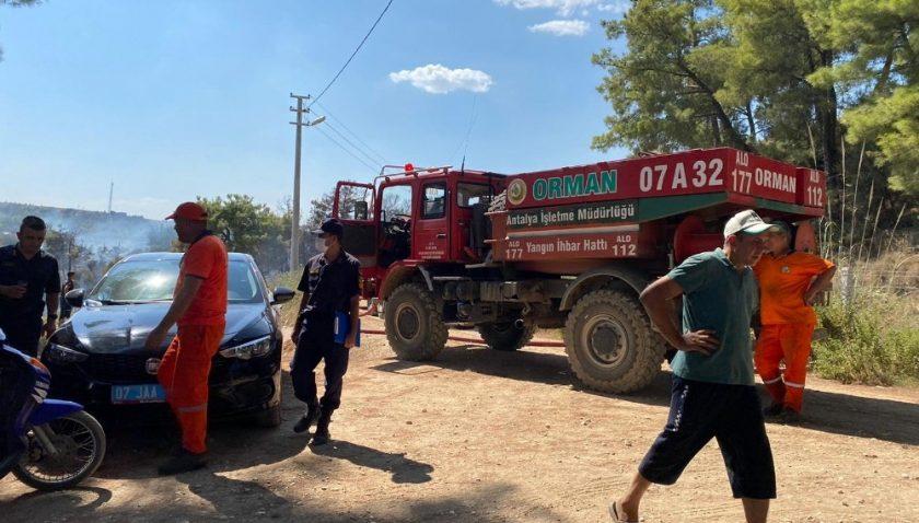 Antalya'da kırsal alanda çıkan yangın söndürüldü