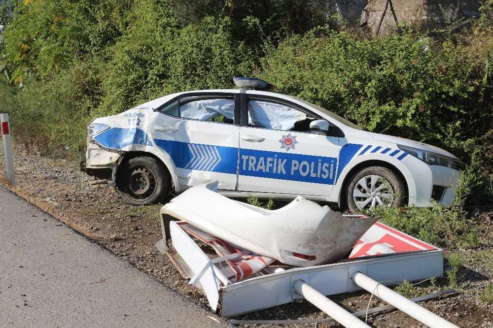 Göreve giden polis ve jandarma ekibi kaza yaptı: 2 yaralı