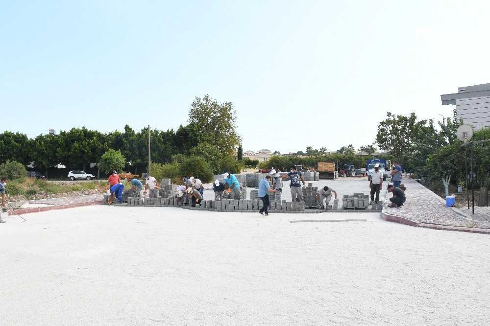 Kemer Belediyesi'nden Çamyuva'da üst yapı çalışması
