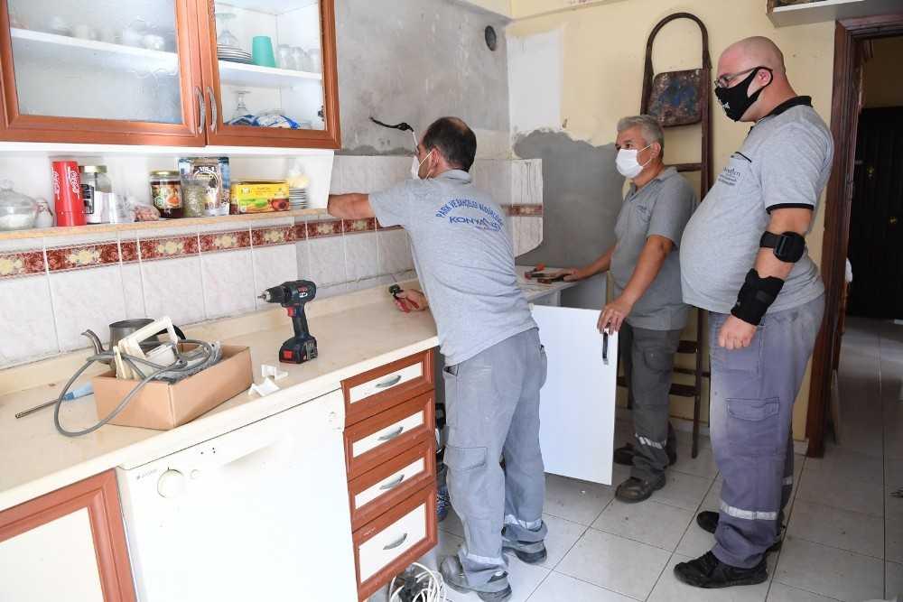 Konyaaltı'nda  yanan 6 ev baştan sona yenilendi