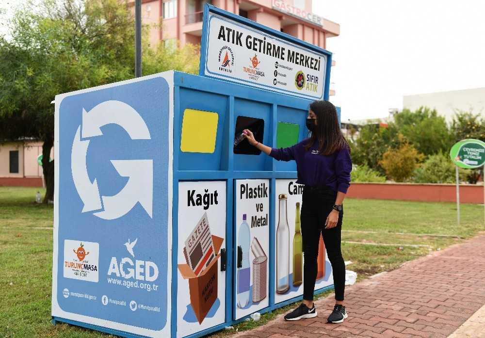 Muratpaşa'da mobil atık getirme merkezleri kuruldu