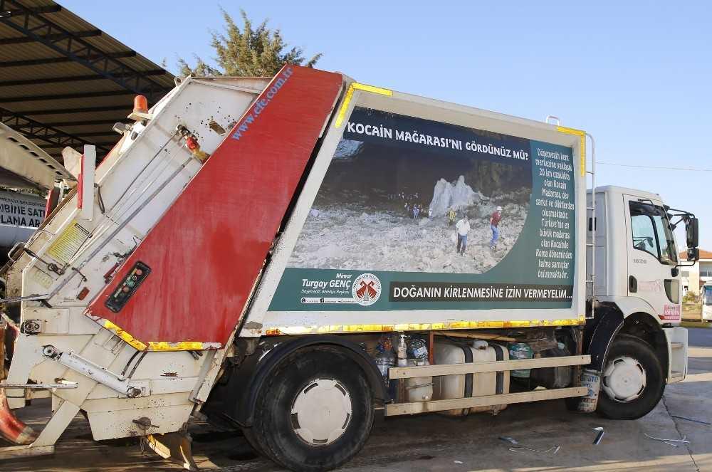 Çöp kamyonuyla kültürel tanıtım