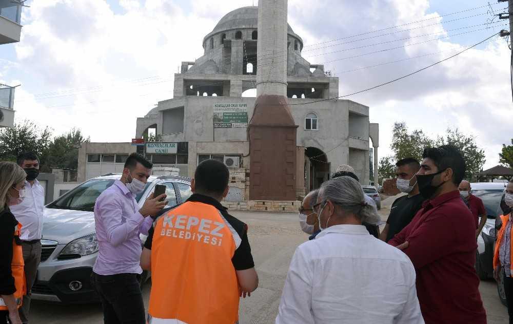 Konyalılar Camii'nin ince şlerinin yapımı başladı