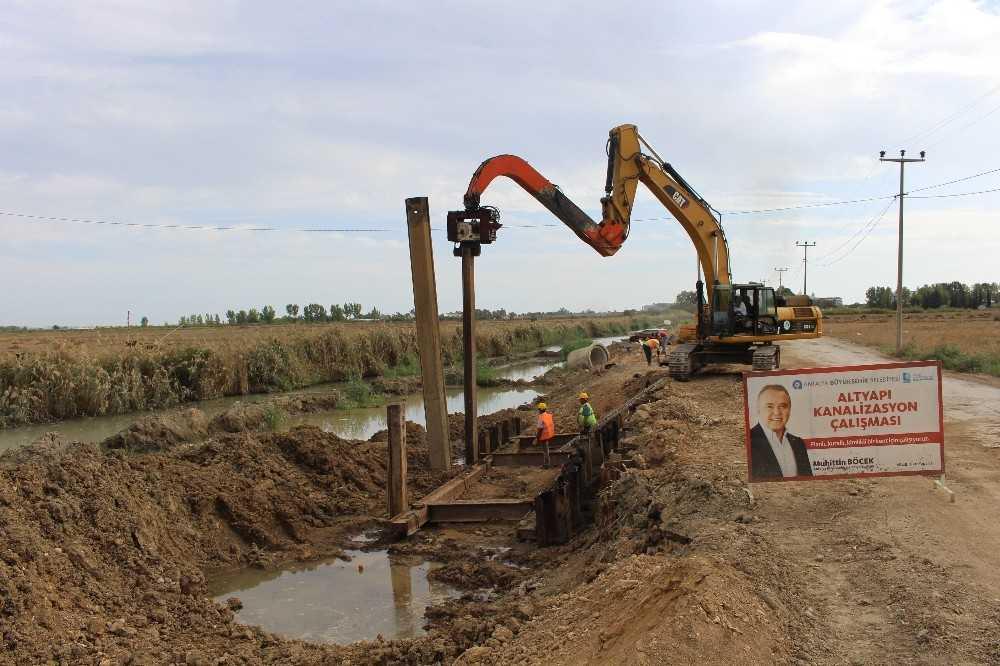 Manavgat Kanalizasyon Projesi'nin 3'te biri tamamlandı