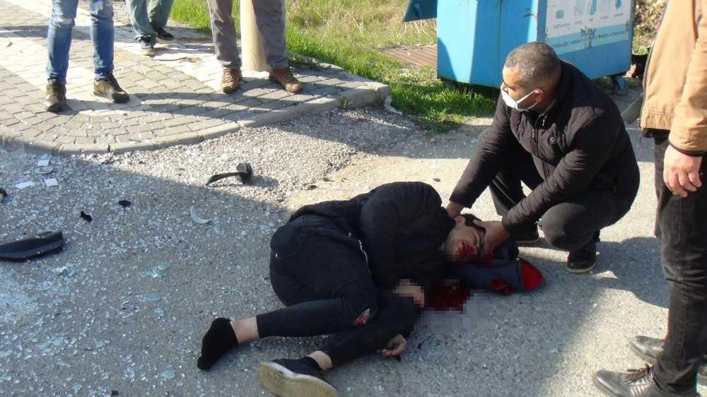 Antalya'da feci motosiklet kazası: 1 yaralı
