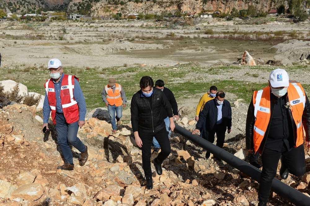 Demre'de  bin 263 dönüm arazi modern yöntemlerle sulanacak