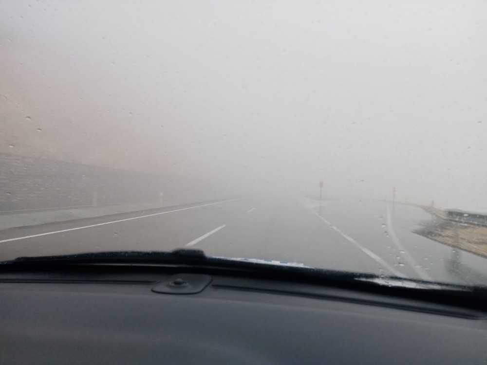 Korkuteli ilçesinde sis etkili oldu