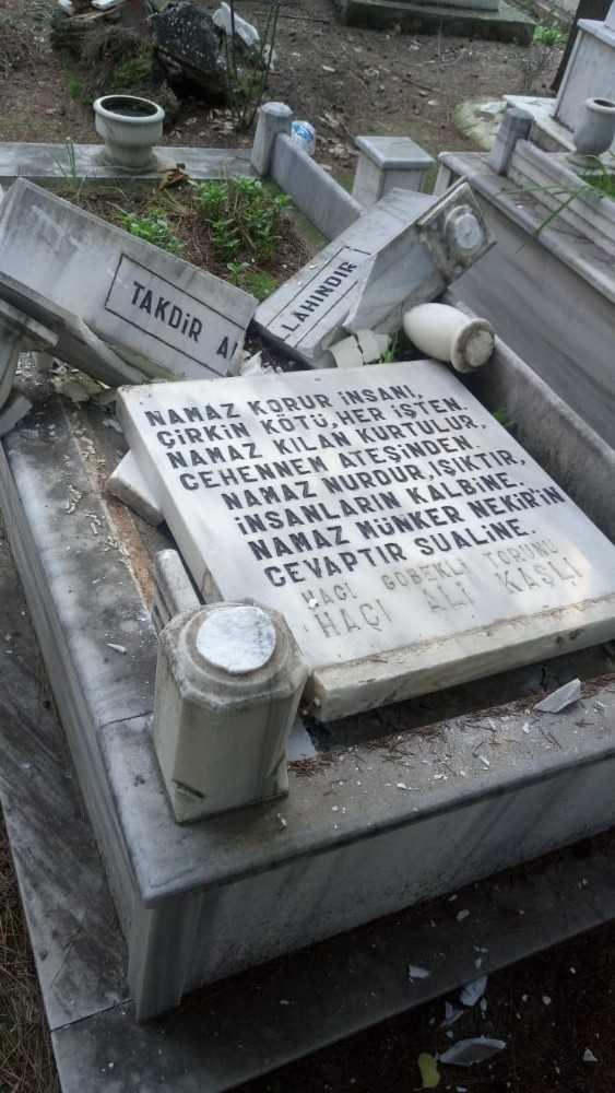 """Mezarlıklara zarar verdi, Türk bayraklarını söktü, """"Moralim bozuktu"""" dedi"""