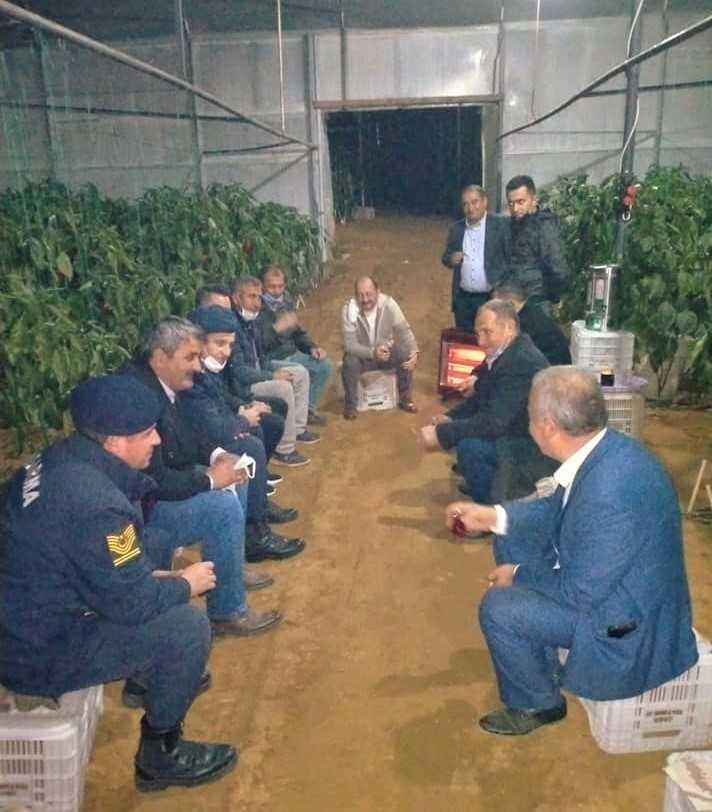 Aksu protokolü zirai don nöbetinde üreticileri unutmadı