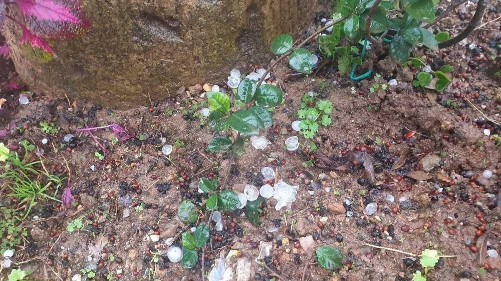 Alanya'da fındık büyüklüğünde dolu yağdı