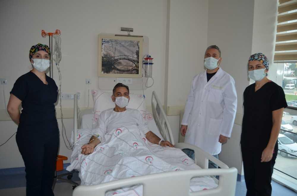Alanya'da ilk kapalı böbrek kanseri ameliyatı
