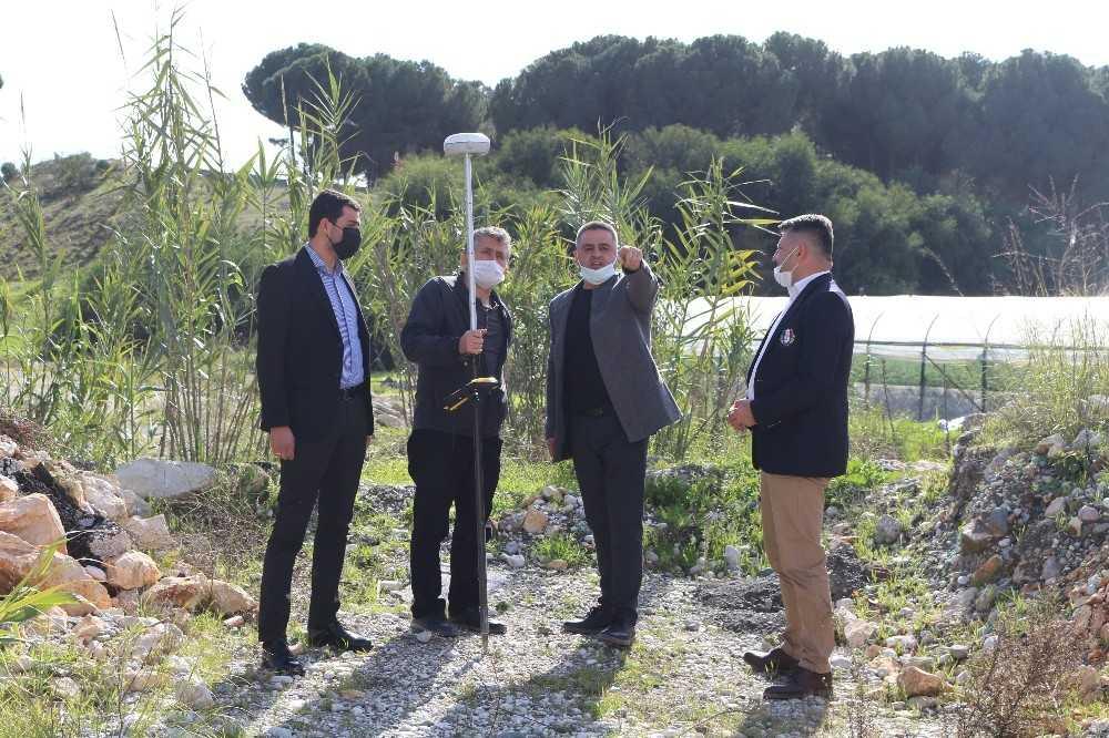 Demre'de 4 mahallede mevcut sulama hattı 15 km uzayacak