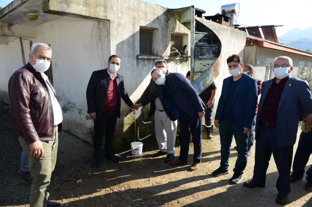 Gazipaşa'da  iki mahallede su hasreti bitti