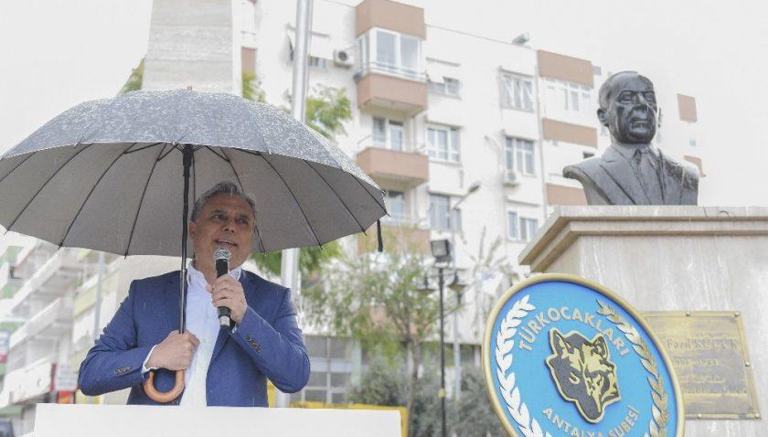 KKTC Kurucu Cumhurbaşkanı Rauf Denktaş, Muratpaşa'da anıldı