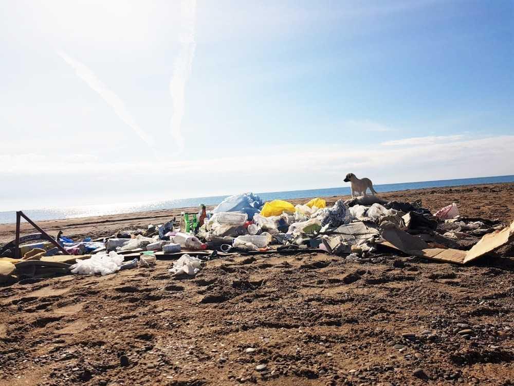 Kumköy'de plaj temizliği